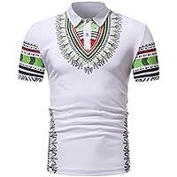 VENMO Herren Slim Fit Kurzarmbluse Afrikanisch bedrucktes Muskel-T-Shirt  Herren Sommer Freizeit Hemden 25d7ae44e1