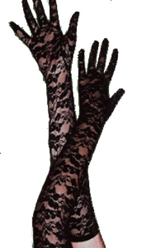 (spass42 Damen Spitzen Handschuhe lang Abendhandschuh Groesse: S/M/L/XL)