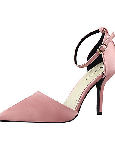 WSS 2016 Chaussures Femme-Décontracté-Noir / Vert / Rose / Gris / Fuchsia-Talon Aiguille-Talons-Talons-Soie pink-us5 / eu35 / uk3 / cn34