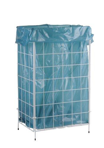 Funny Gitterabfallkorb, Metall, zusammenlegbar, weiß, 60 liter, 400 x 230 x 640 mm, 1er Pack (1 x 1 Stück)