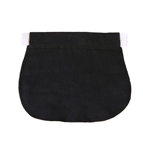 0595b8764 Healifty Extensor de Cintura para Pantalones para Mujeres Embarazadas o  Futura Madre (Negro)