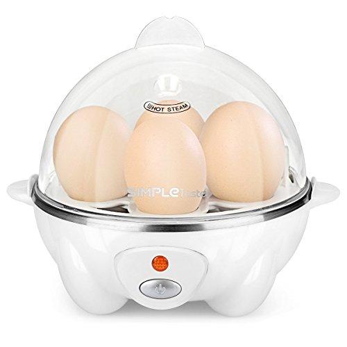 SimpleTaste Cuiseur œufs Coquetier Moderne Blanc Vaporisateur...
