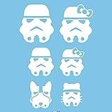 Autodomy Autocollants Famille Star Wars Tropper Pack de 6 unités pour la Voiture...