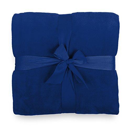 Lumaland Kuscheldecke aus Weichem Coral Fleece aus 100% Microfaser 150 x 200 cm Blau (Waschen Wolle Genießen)