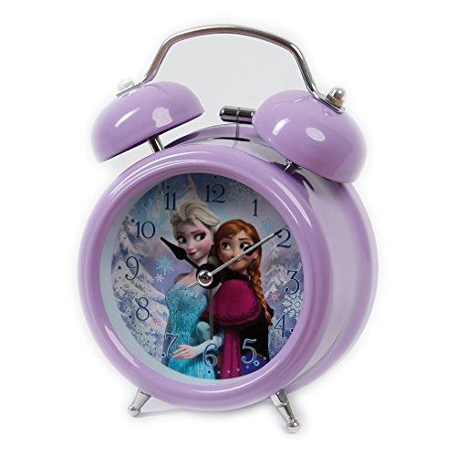 Disney Frozen Elsa & Anna Wecker für Mädchen lila analog