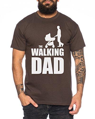 The Walking Dad Herren T-Shirt Dead, Farbe:Braun;Größe:L