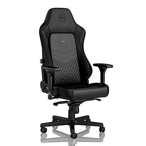 noblechairs HERO Gaming Stuhl - Bürostuhl - Schreibtischstuhl - Echtleder - Schwarz