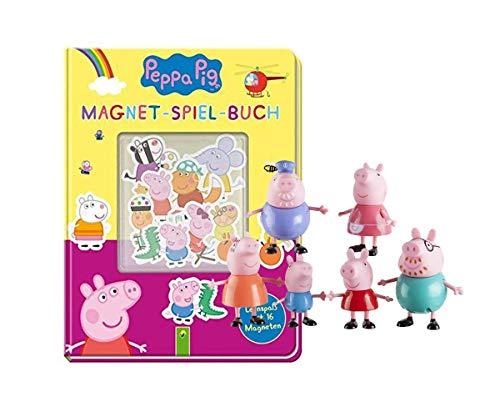aseras Peppa Pig: Magnet-Spiel-Buch: Lernspaß mit 16 Magneten + 1. Peppa Pig Spielfigur