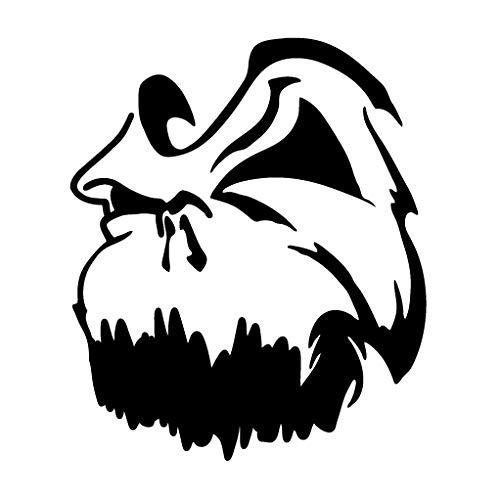 Leon Online Box Totenkopf-Maske - Tribal-Aufkleber für Auto, Fahrrad, iPad, Laptop, MacBook, Helm 12cm schwarz