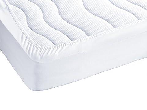 ZOLLNER® wasserundurchlässige Matratzenauflage 90x200 cm, in vielen Größen und unterschiedlicher Befestigungart erhältlich, vom Hotelwäschespezialisten Serie