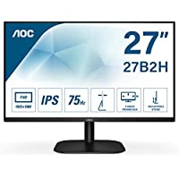 AOC 27B2H - Monitor para PC de 27 pulgadas Full HD 75Hz (1920x1080, IPS, Mega Infinity DCR, Flickerfree, LowBlue Light, VESA, D-SUB, HDMI), Negro