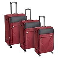 كاميلينت حقائب سفر بعجلات 3 قطع , احمر , FB900004-RED