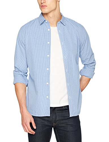 SELECTED HOMME Herren Freizeithemd Shhonemoonie Shirt LS Noos, Mehrfarbig (Dark Blue Checks:.), Medium