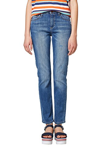 ESPRIT Damen Straight Jeans 038EE1B035, Blau (Blue Medium Wash 902), 29/32