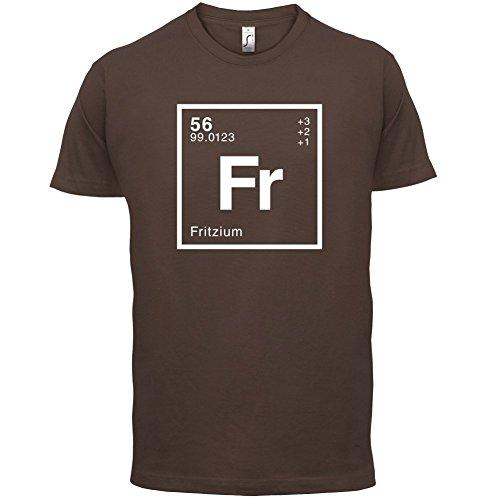 Fritz Periodensystem - Herren T-Shirt - 13 Farben Schokobraun