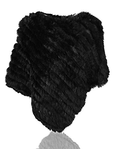 Uilor® vera pelliccia coniglio poncho in pelliccia
