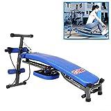 Lxn Appareil de Fitness Multifonctionnel pour la Maison, Plateau Dorsal Pliable - Machine pour Abdomen rameur - Charge maximale de 440 LB - Bleu