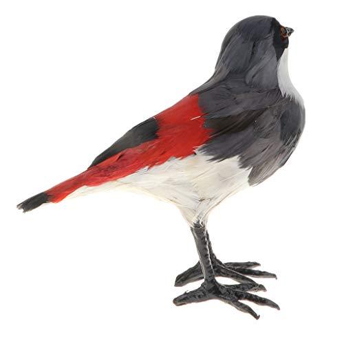 F Fityle Rot Tierfiguren Tiermodell Gartenfigur Gartendeko mit Würger Vogel Figur, aus Plastik -