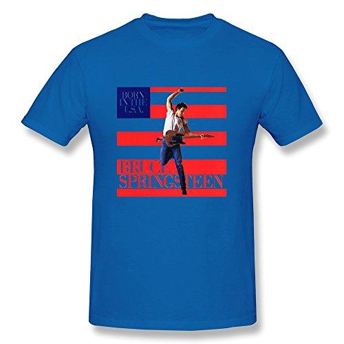 fkyceun Herren Bruce Springsteen-Album Cover T-Shirt royalblau, Herren, königsblau - Album-cover Tee Herren