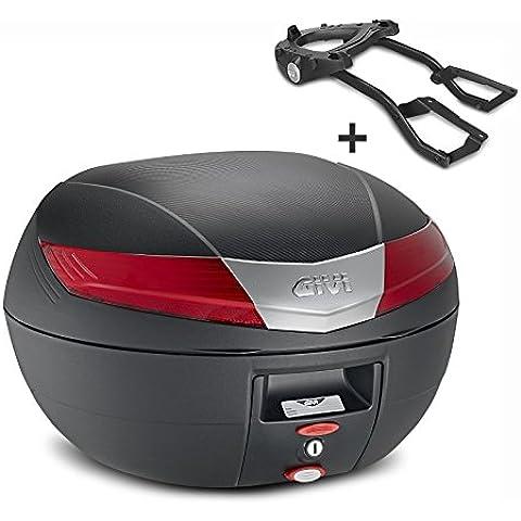 Top Case Set Suzuki GSX 750 F 03-06 Givi Monokey V40N negro