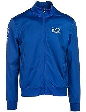 Emporio Armani EA7 felpa con zip uomo blu