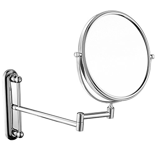 JYSPORT Make-up-Tabletop Spiegel Kosmetikspiegel Kompakt Eitelkeit Rasierspiegel Doppelseitige Vergrößerung mit 360-Grad-Swivel (Style 2) -