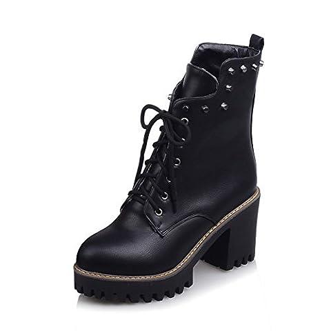 A&N , Damen Durchgängies Plateau Sandalen mit Keilabsatz , schwarz - schwarz - Größe: 39