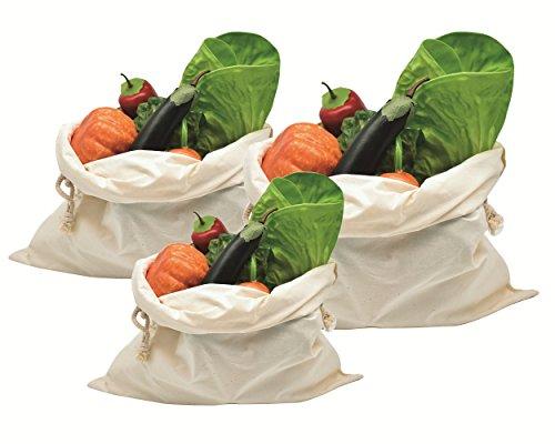 Teebeutel Buch-tee-100 Das (AiYoYo Einkaufstasche Baumwolle Obst und Gemüsebeutel Bio baumwollbeutel Brotbeutel Weiß Wiederverwendbar Waschbar Plastikfrei Shopper 100% Stoffbeutel 3er SET(Verschiedene Größen, StyleA))