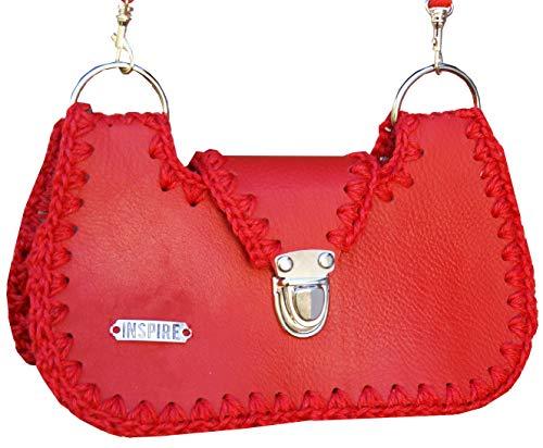 Aus Echtem Leder Eimer Handtasche (Frauen Leder kleine Sultertasche Rote Crossbody Tasche Jute Handtasche echtes Leder)