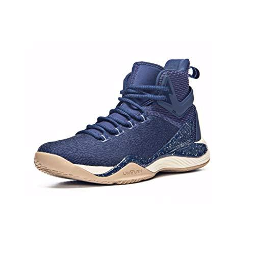 Basketball-Schuhe, Herren Sommer abriebfeste, atmungsaktive High-Top-Anti-Rollover-Turnschuhe (vier Farben optional) (Color : D, Size : 43EU) -