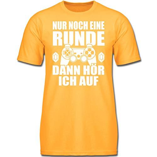 Sprüche Kind - Nur noch eine Runde - 164 (14/15 Jahre) - Gelb - F130K - Kinder Tshirts und T-Shirt für Jungen