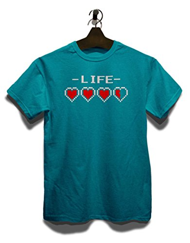 Live Hearts T-Shirt Türkis