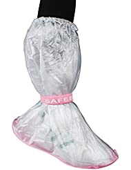 Andux 1 Paar mehrfachverwendbare rutschfeste wasserdichte Schuhe bedeckt Regen-Schnee-Schutz-lange Schuh-Abdeckung Bewegliche Regen-Aufladungen YXT-03