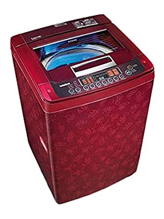 LG 6.5 kg Fully-Automatic Top Loading Washing Machine (T7567TEEL3, Dark Red)