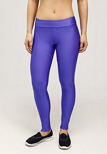 Rola Moca, Leggings Donna Lycra Palestra (Leggings 6159), Colore: Azzurro (AZ10), Taglia: M