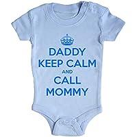 BODY tutina bimbo neonato Daddy Keep Calm and call mommy