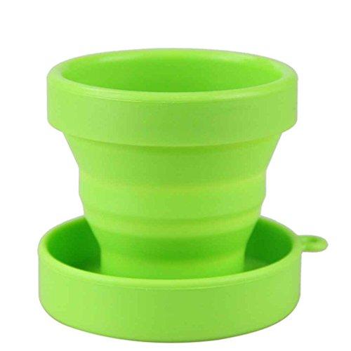 meisijia Faltbare Silikon-Cup für Reisen Camping Schule Outdoor Grün (Pille Nehmen-cup)