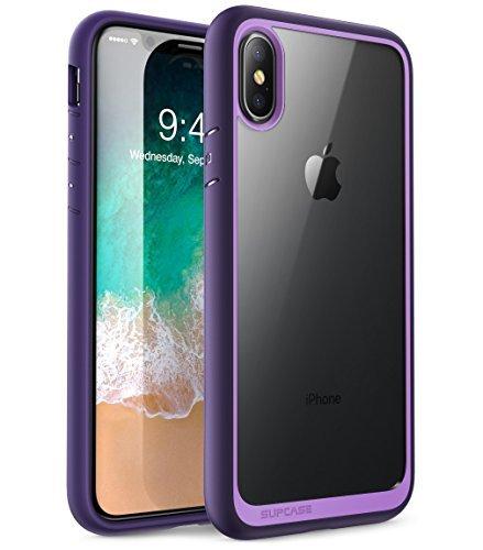 SUPCASE Schutzhülle für iPhone X, Einhornkäfer-Design, Premium-Hybrid-Schutzhülle für Apple iPhone X 2017 (Grün), violett