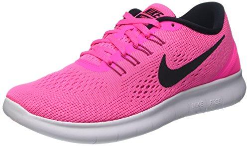 Black Fire Hat (Nike Free RN Laufschuhe Damen, Pink (Pink Blast/Black-Fire Pink-Wht), 37.5 EU)