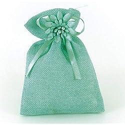 Sac en Tissu 20 pièces avec décoration de Bricolage Faveurs Faveurs Cadeaux Faveurs Favoris Porte-favoris Confetti Baptême Baptême Mariage Complémentaires Bijoux de fête Bijoux d'anniversaire