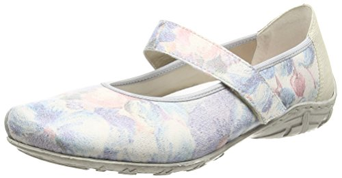 RiekerL2062 Women Closed Toe - Ballerine donna , Multicolore (Multicolor (Multicolor)), 42 EU