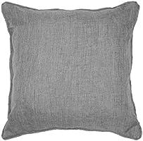 Douceur d'Intérieur Chambray Coussin Polyester Uni Newton Gris 40 x 40 x 40 cm