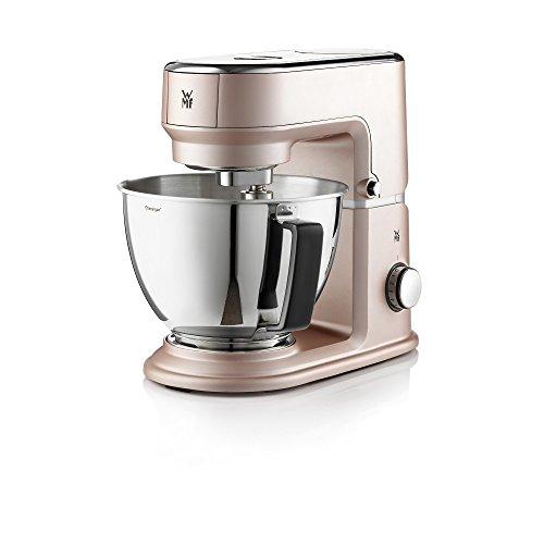 WMF Küchenminis Küchenmaschine One for All (430 Watt, Cromargan-Rührschüssel 3 L, planetarisches Rührwerk, Timerfunktion, inkl. Mixeraufsatz aus Glas für Smoothies und Co.) powder rose Mini-küchenmaschine Reibe