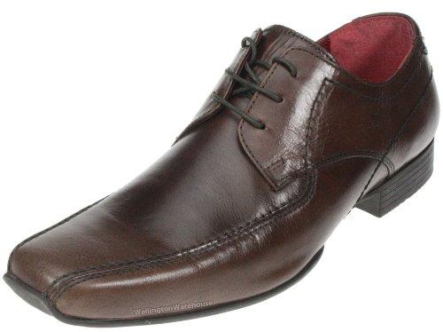 Red Tape Sandbach Noir marron en cuir à enfiler Chaussures formelles pour homme Marron - marron