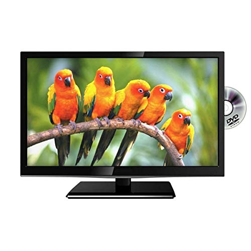 22  Inch Black HD Ready LED 12 Volt TV Television For Caravan Truck HGV Lorry