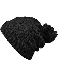 Central Chic - Bonnet -  Femme Noir Noir