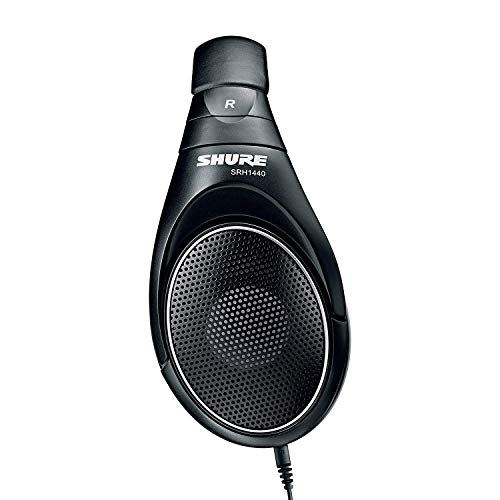 Shure SRH1440, offener Kopfhörer / Over-ear, schwarz, Premium, geräuschunterdrückend, austauschbares Kabel, Velourpolster, natürliche Wiedergabe, erweiterter Übertragungsbereich, linearer Frequenzgang - 3
