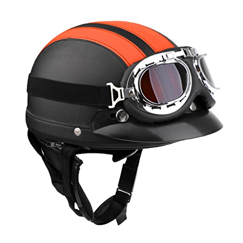Sharplace Casco con Visera Seguridad Hombre Moto Suave Confortable Accesorio Ciclismo -...
