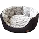 "Nobby 60515 Komfort Bett oval ""Cacho"", dunkelgrau"
