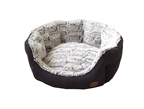"Nobby 60513 Komfort Bett oval ""Cacho"", dunkelgrau"